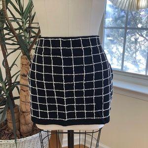 Zara beaded grid skirt